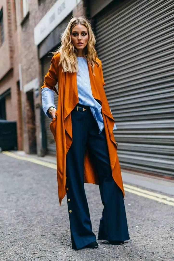 橘色鞋子搭配衣服