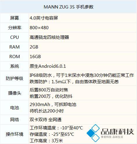 """硬汉""""小金刚""""——MANN ZUG 3S三防手机评测"""