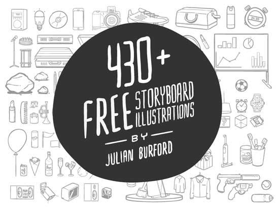 430个故事情节手绘素材,赶紧下载吧!